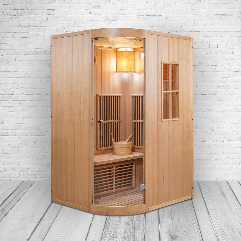 luxus kombinationsmodell von einer finnischen sauna infrarotkabine in einem inkl harvia. Black Bedroom Furniture Sets. Home Design Ideas