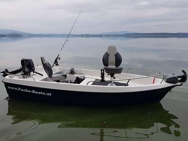 Bild 1 von 46 - 420 Deluxe Angelboot Fischerboot Motorboot Badeboot Familienboot 420 Deluxe Fuchs Boot