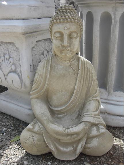 Buddha Steinfigur Massiv 55 Cm 31 Kg Feng Shui Japanischer