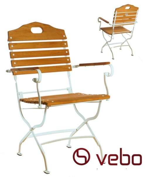 vebo biergartenstuhl verona mit armlehne 103 70 8490. Black Bedroom Furniture Sets. Home Design Ideas