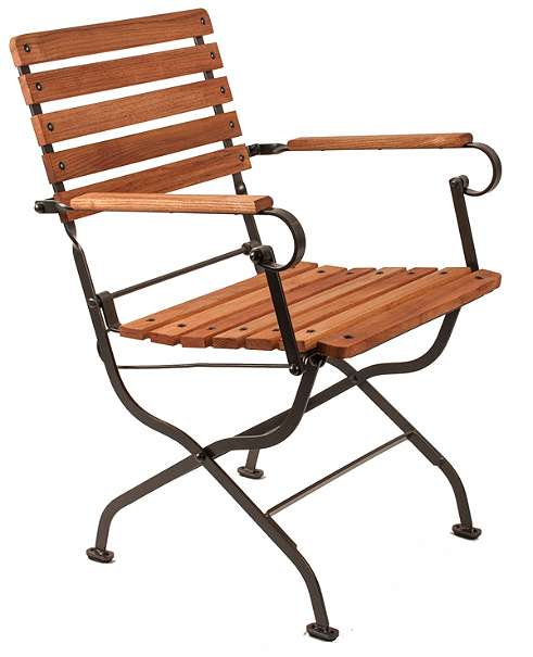 biergartenstuhl verona mit armlehne. Black Bedroom Furniture Sets. Home Design Ideas