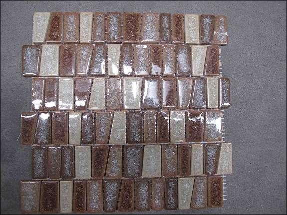 Glasmosaik / MosaikFliese aus Glas 30x30 cm braun / beige