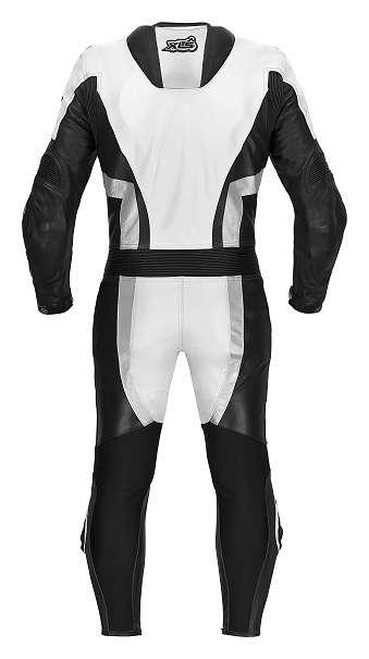 Lederkombi Einteiler schwarz weiß Motorradkombi einteilig Gr. 46 48 50 52 54 56 58 60 62