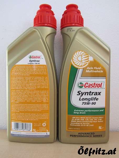 Castrol Syntrax Longlife 75W-90 Achsgetriebeöl 1l Flasche