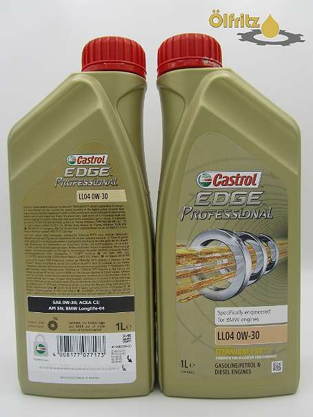 castrol edge professional bmw ll 04 0w 30 titanium fst. Black Bedroom Furniture Sets. Home Design Ideas