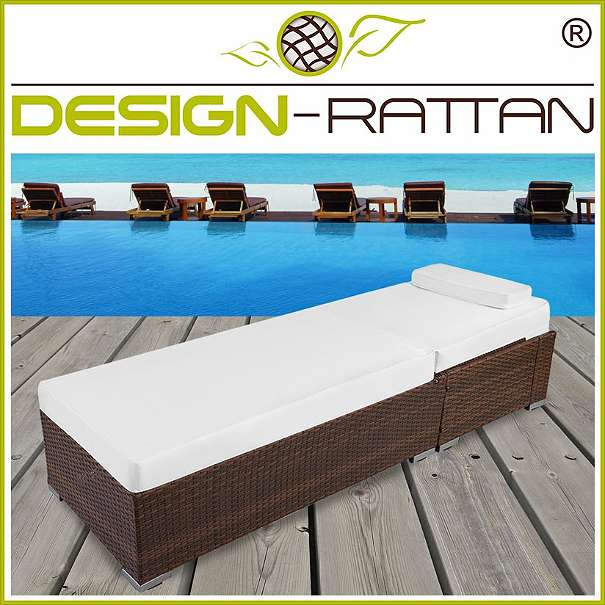 liegestuhl rattan 2er set modell daybed small 5 farben. Black Bedroom Furniture Sets. Home Design Ideas