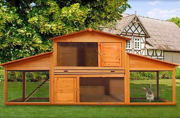 h hnerstall kaninchen xl neu hasenstall kleintierstall nagerk fig h hnerk fig 169. Black Bedroom Furniture Sets. Home Design Ideas