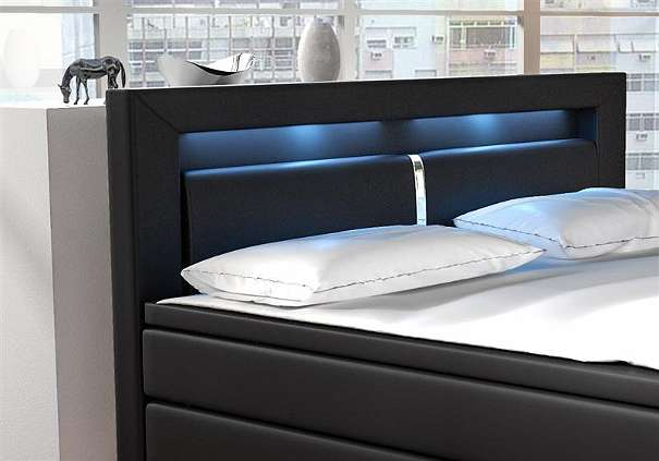 nachttisch boxspringbett led inspiration ber haus design. Black Bedroom Furniture Sets. Home Design Ideas