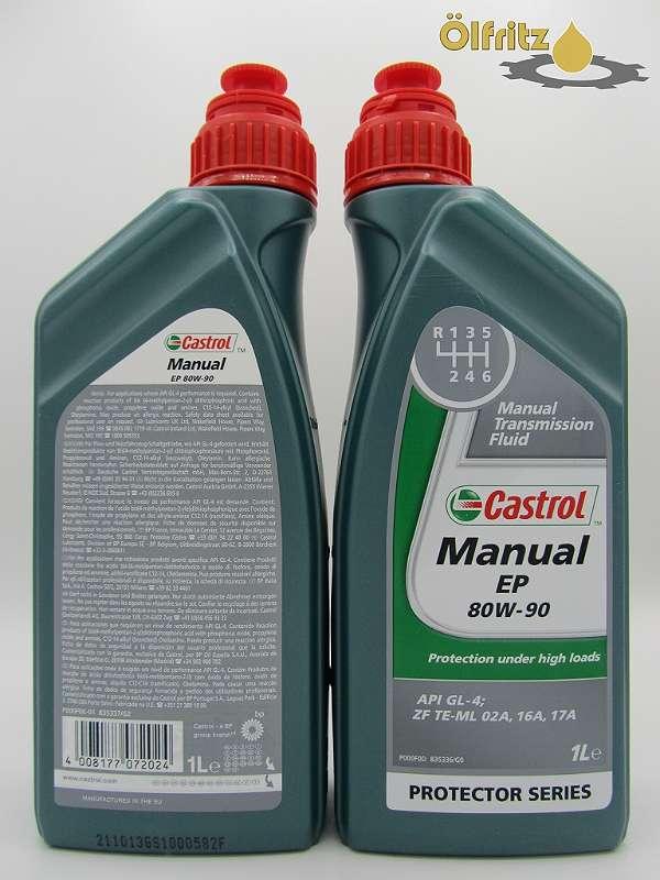 Castrol Manual EP 80W-90 Schaltgetriebeöl 1l Flasche