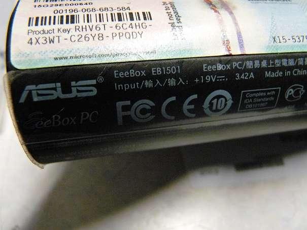 Mini Format PC Dualcore 2x 1.6GHZ 250GB HDD Nvidia Geforce 9400M Box ASUS Eee Box EB1501 weiß Win7 mk4 zz