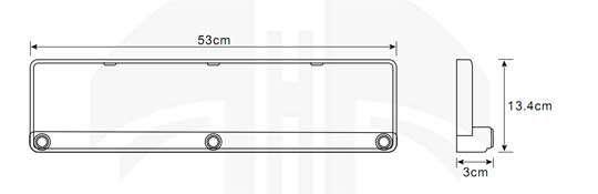 einparkhilfe kennzeichen nummernschild schwarz sb e16. Black Bedroom Furniture Sets. Home Design Ideas
