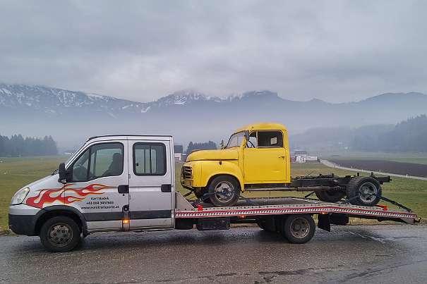 TIROL - REUTTE TRANSPORT IHRES AUTO TRAKTOR KIPPER MASCHINE IN ÖSTERREICH UND WESTEUROPA - TF - F