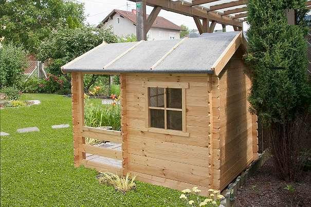 Kinderspielhaus Holz Willhaben ~ Kinderspielhaus Lucky Park  1,75 x 1,30 Meter aus 19 mm Blockbohlen