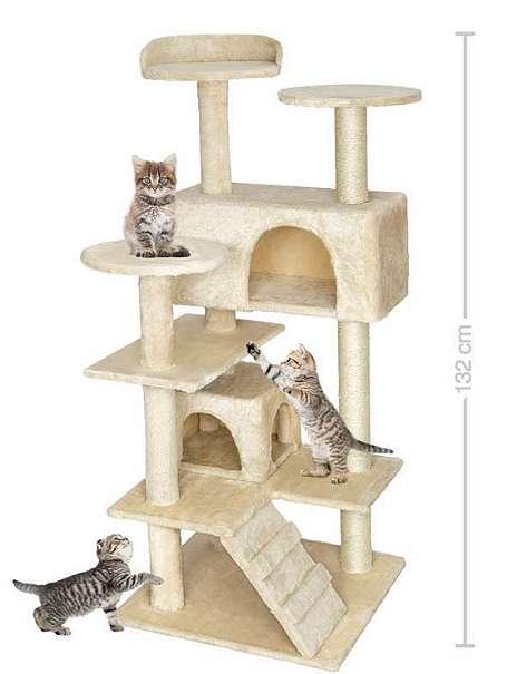 neu katzenkratzbaum 1 32 meter hoch kratzbaum katzen katzenbaum katzenspielzeug. Black Bedroom Furniture Sets. Home Design Ideas