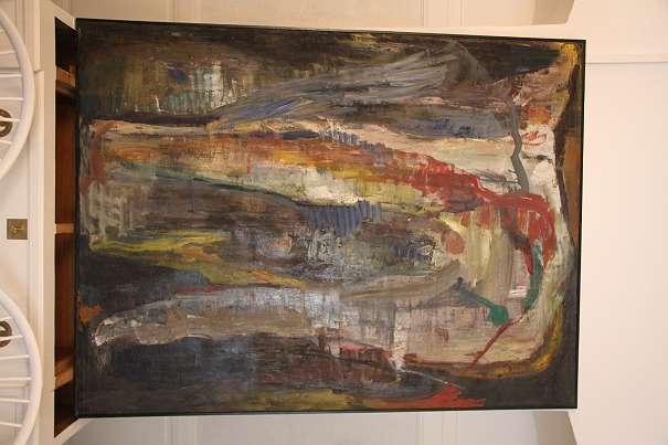 REDUZIERT! Großes abstraktes Ölgemälde von Hubert ROITHNER, 1987