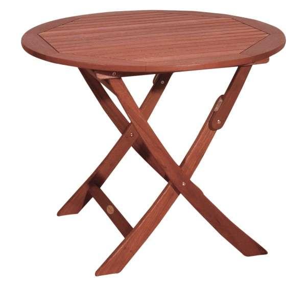 Tisch Stockholm rund klappbar Holz Garten Gartentisch Holztisch Balkontisch 985072
