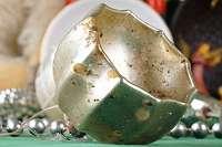 VERSILBERT! Alter versilberter Christbaumschmuck um 1910! Kultiger, alter Christbaumschmuck Weihnachtsbaum Christbaum Kugel Zapfen Schmuck Figur Figuren