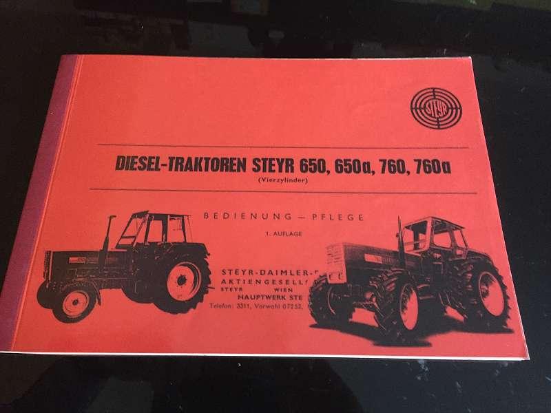 Betriebsanleitung Traktor 760 und 760a STEYR
