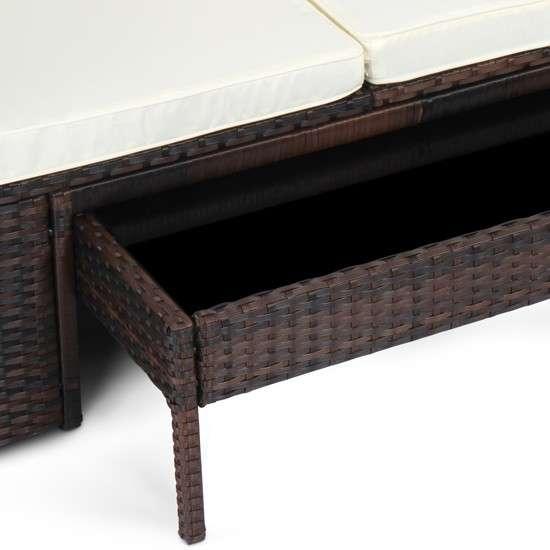 model new desk 2017 polyrattan sonnenliege gartenliege liegestuhl relaxliege lounge mit dach. Black Bedroom Furniture Sets. Home Design Ideas