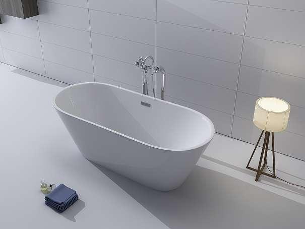 luxus freistehende badewanne 170x80 acrylwanne inkl ablauf und berlauf whirlpool dusche. Black Bedroom Furniture Sets. Home Design Ideas