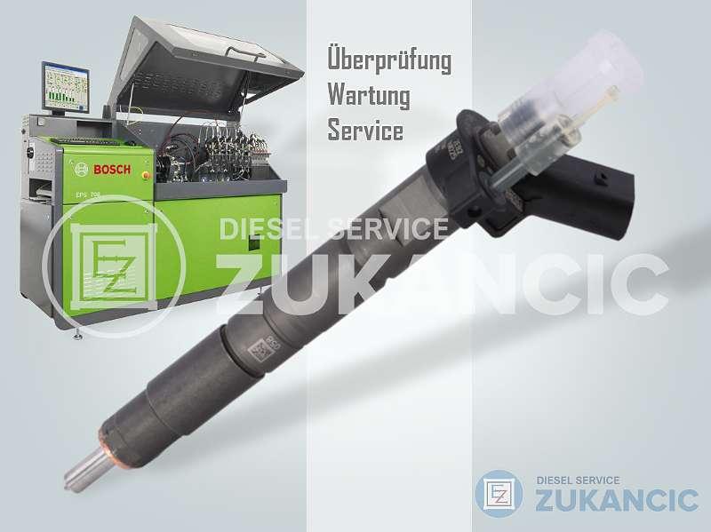 PRÜFUNG CHECKING Injektor Einspritzdüse CR BOSCH Piezo MERCEDES BMW AUDI VW 2.0 3.0 2.7 TDI