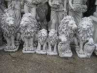 Steinfigur LÖWE in unterschiedlichsten Größen und Modellen von 11 - 1200 kg Löwen Steinlöwe Torwächter Wächter Tierfigur Geschenk