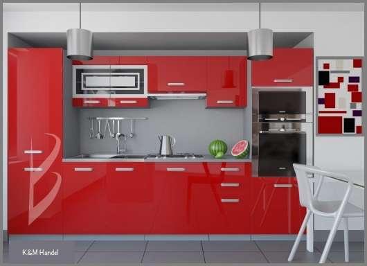 k chenblock sienna hochglanz 300 cm rot neu mit garantie 464 2431 enzersdorf an der fischa. Black Bedroom Furniture Sets. Home Design Ideas