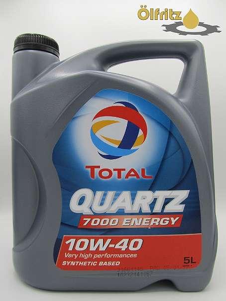 Total Quartz 7000 Energy 10W-40 Motoröl 5l Kanne