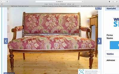 11 verschiedenste Sofas, Biedermeier, Jugendstil, Couches, Chaiselongue, Liegesofas, siehe viele Fotos,