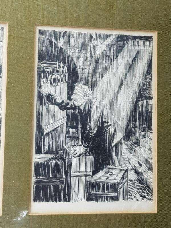 Raphael Kirchner Tuschzeichnungen um 1900