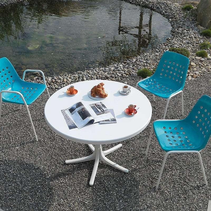 Bermuda mit Armlehne rund Stuhl Gartenstuhl Campingstuhl Gartenmöbel Schaffner 23001