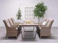 Highland Tisch 265 x 100 x H76 cm Gartentisch Esstisch Außenbereichtisch GI01043BR