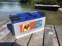 Bootsbatterie 12 Volt 100 Ah Banner 95751 Batterie für Bootsmotor Höfner-Boote®