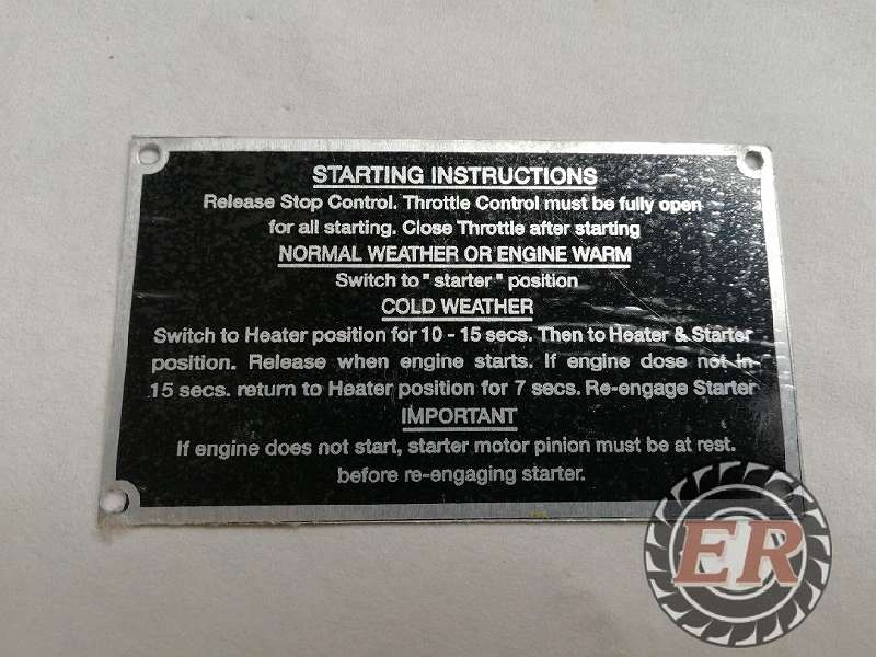 Traktorschild Massey Ferguson 35 Anlass-Anweisungen