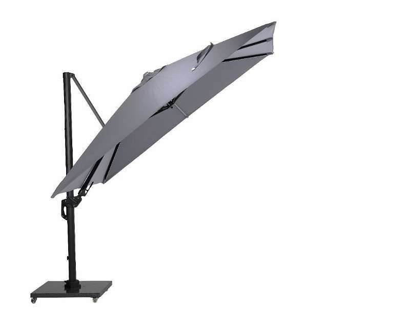 Hawaii Lumen Sonnenschirm LED 300 x 300 cm carbon black Ampelschirm Sonnenschirm Gartenmöbel Sonnenschutz
