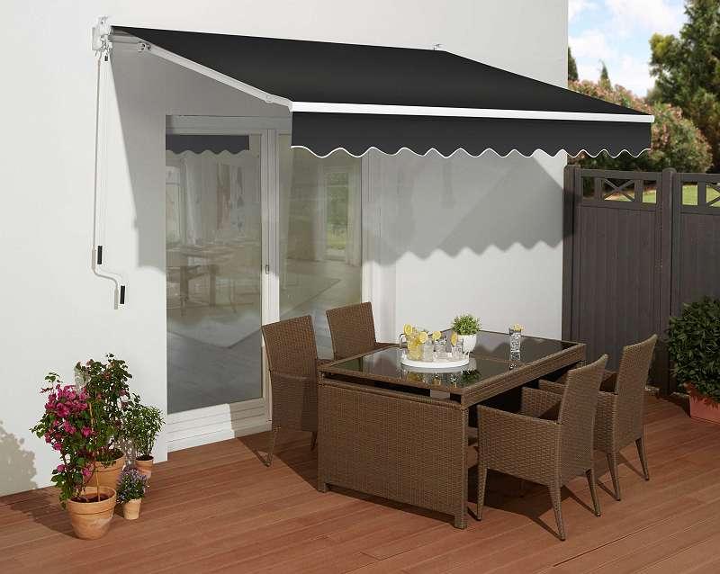 abverkauf 30 gelenkarmmarkise c38 breite ausfall 350 200 cm anthrazit artikel. Black Bedroom Furniture Sets. Home Design Ideas