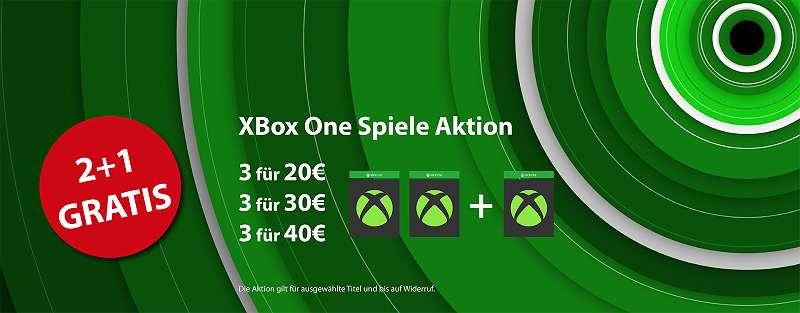 Xbox One Spiele 2+1 AKTION!