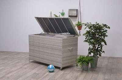 York Kissenbox passion willow Polyrattan Auflagenbox Gartenbox Gartentruhe Aufbewahrungsbox GI05626SO