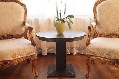 ALT & ORIGINAL! Runder Beistell-/ Kaffeetisch aus Holz Couchtisch Lampentisch Blumentisch Wintergarten Sofa Wohnzimmer