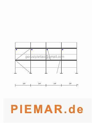 Fassadengerüst Typ Layher Stahlboden L 2,57 Typ Layhergerüst ca. 65 m² Gerüst Stahlrahmen Kompatibiles Baugerüst NEU