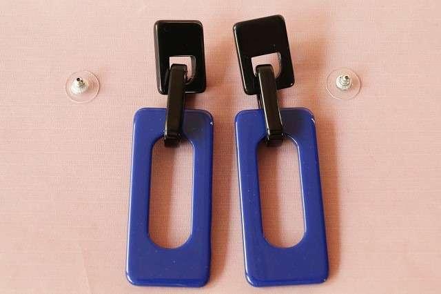 verschiedene Farben! Statement-Ohrring aus angesagtem Acryl – ca. 8,6 cm lang rot gelb dunkelblau grün hellblau