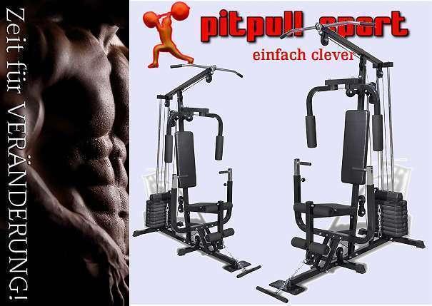 Fitnessstation inkl. 40kg Gewichte, Kraftstation für komplett-Workout auf kleinstem Raum+++