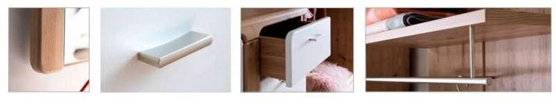 TORINO Garderoben- und Kommodenprogramm Flurgarderobe Garderoben Set Spiegel Schuhschrank Wandpaneel MCA