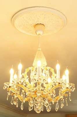 Wunderschön! 9 flammiger Kristall-Luster Lüster Deckenlampe Lampe Leuchte Kronleuchter Glas Kristall Glas