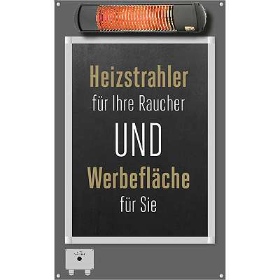 TANSUN Smokingpoint 2-in-1 Set | Single Infrarot-Heizstrahler 2 kW | gratis Versand | 3 Farben
