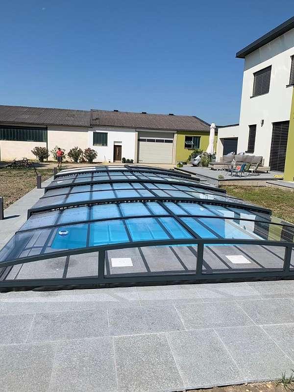 """""""Frühjahrssensation"""" - Poolüberdachung """"Aquamarin"""" Klar/ Plexiglas"""