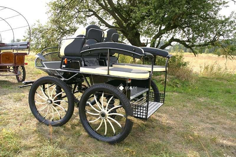 """Fahrschulwagen 001g Marathonwagen 29"""" Kutsche Wagen Kutschen Marathon Pferde"""