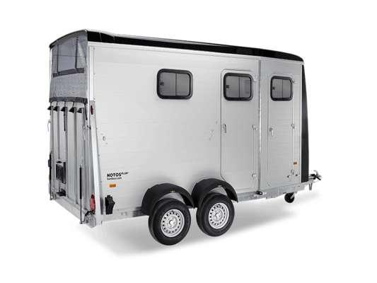 Messerückläufer, Humbaur Pferdeanhänger Notos Plus 3000, für 2 Pferde, mit Sattelkammer, Messe-Abverkauf, Sonderpreis