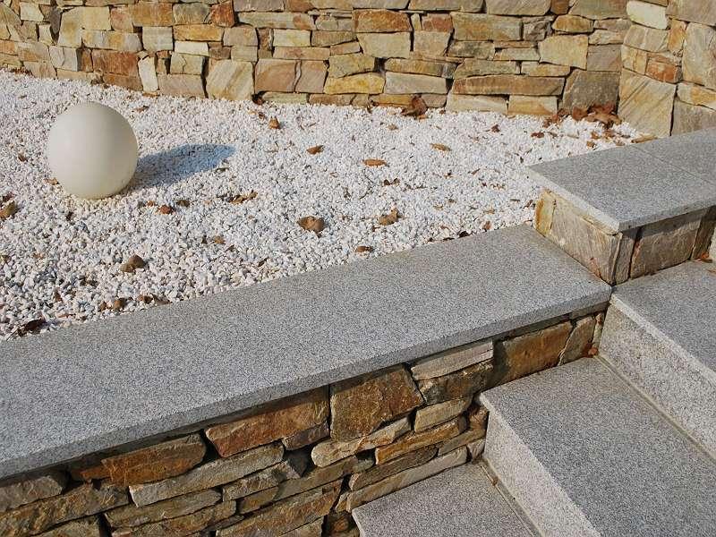 Mauerabdeckung Granit Diamond Grey geflammt Euro=88,80-/m²