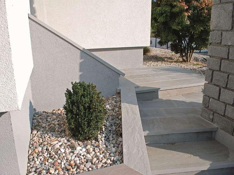 Mauerabdeckung Sandstein Kandla Grey spaltrau,handbekantet 150x35x3cm Euro=36,30-/lfm